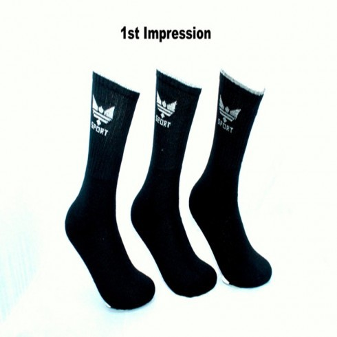 3 PACK CROWN BLACK SPORT SOCKS