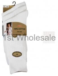WHITE 3 PACK CASCADE 100% COTTON SOCKS