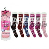 LADIES COZEE THERMAL LINED SOCKS