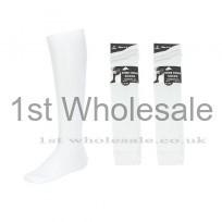 3 PACK KNEE HIGH WHITE LYCRA SOCKS