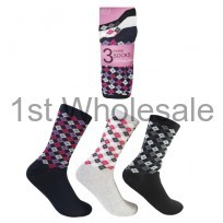 LADIES DESIGN SOCKS DIAMOND DESIGN