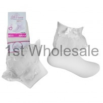 LITTLE PRINCESS LACE SOCK WITH BOW IN WHITE