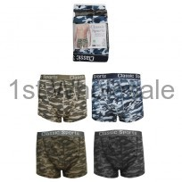 MENS 3 PACK ARMY PRINT BOXER SHORTS