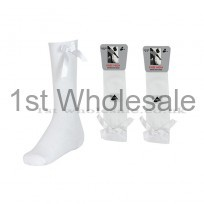 HIGH LYCRA WITH RIBBON BOW - WHITE