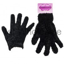 LADIES FEATHER TOUCH GLOVES IN BLACK