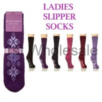 LADIES JENNIFER ANDERTON SLIPPER SOCKS