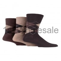 MENS ARGYLE GENTLE GRIP SOCKS
