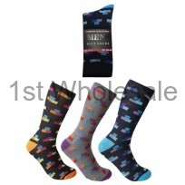 MENS DESIGN SOCKS MOSAIC PRINT 6-11