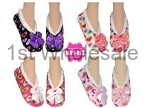 LADIES SOFTEEZ SLIPPER HEART PRINTS