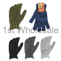 MENS THERMAL FULL FINGER GLOVES ASSORTED