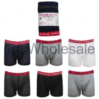 MENS 3PK CLASSIC SPORT RED BAND BOXER SHORTS