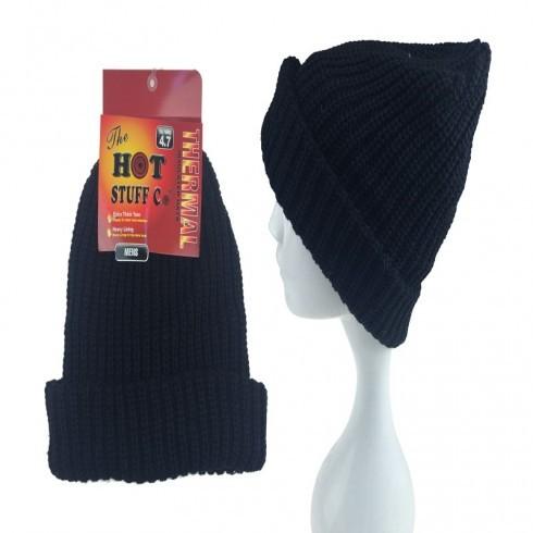MENS HOT HAT IN BLACK