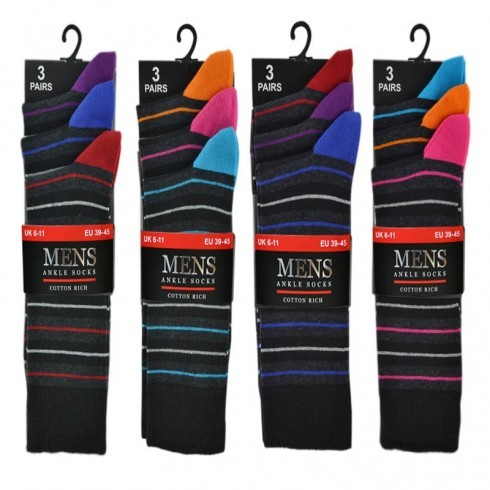 3 PACK FASHION STRIPE SOCKS