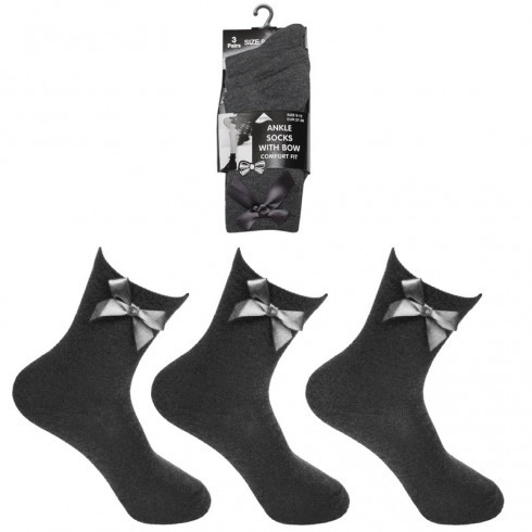 LYCRA ANKLE SOCKS WITH BOW