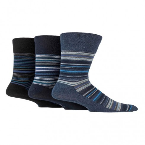 GENTLE GRIP BLUES STRIPE DESIGN SOCKS