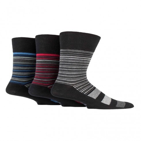 GENTLE GRIP SOCKS STRIPED PATTERN