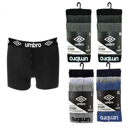 UMBRO ASSORTED BOXER SHORTS
