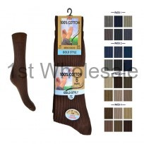 MENS 6 PACK 100% COTTON SOCKS FASHION COLOURS