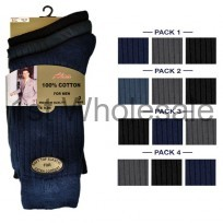 DARK ASSORTED3 PACK CASCADE 100% COTTON SOCKS