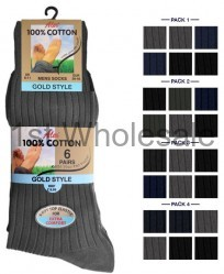MENS 100% P PACK SOCKS