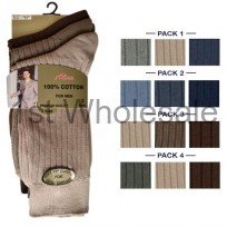 3 PACK CASCADE 100% COTTON SOCKS