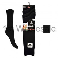 3 PACK CASCADE LYCRA SOCKS BLACK