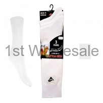 3 PACK CASCADE LYCRA SOCKS WHITE