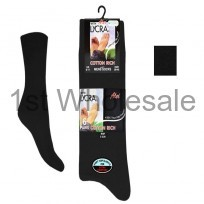 6 PACK LYCRA COTTON SOCKS BLACK