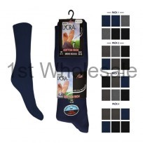 6 PACK LYCRA COTTON SOCKS DARK ASSORTED