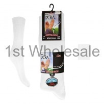 6 PACK LYCRA COTTON SOCKS WHITE