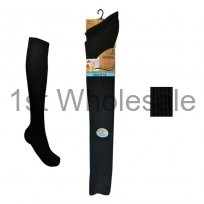 100% BLACK LONG HOSE SOCKS