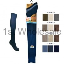 LONG 100% COTTON SOCKS FASHION COLOURS