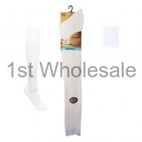 MENS LONG 100% WHITE COTTON SOCKS