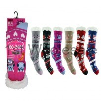 COZEES THERMAL SOCK IN OWL PRINTS
