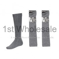 3 PACK LYCRA KNEE HIGH GREY SOCKS