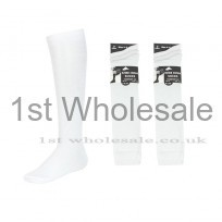 3 PACK KNEE HIGH WHITE LYCRA SOCKS