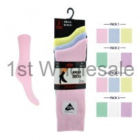 LIGHT PASTELLYCRA ANKLE SOCKS