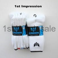 5 PACK WHITE CROWN SPORT SOCKS