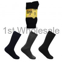 5 PACK ASSORTED WORK SOCKS