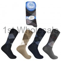MENS NON ELASTIC ARGYLE SOCKS