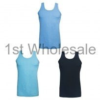MENS COLOURED INTERLOCK VEST