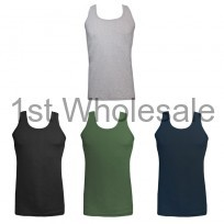 MENS SINGLE JERSEY COLOURED VEST