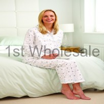 LADIES BRUSHED PYJAMA IN FLOWER PRINT