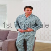 BRUSHED PAISLEY DESIGN PYJAMAS