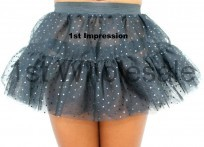 3 LAYER TUTU IN BLACK SEQUIN