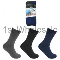 MENS BED SOCKS , BLACK NAVYGREY