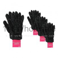 BLACK FEATHER TOUCH GLOVES