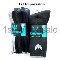 5 PACK CROWN SPORT SOCKS ASSORTED