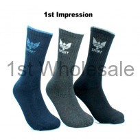 3 PACKNCROWN MOTIF SPORT SOCKS ASSORTED