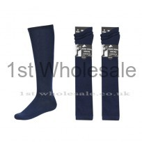 3 PACK KNEE HIGH LYCRA SOCKS NAVY
